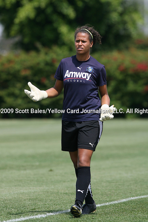 21 August 2009: LA's Karina LeBlanc (CAN). The Los Angeles Sol held a training session at the Home Depot Center in Carson, California one day before playing Sky Blue FC in the inaugural Women's Professional Soccer Championship Game.