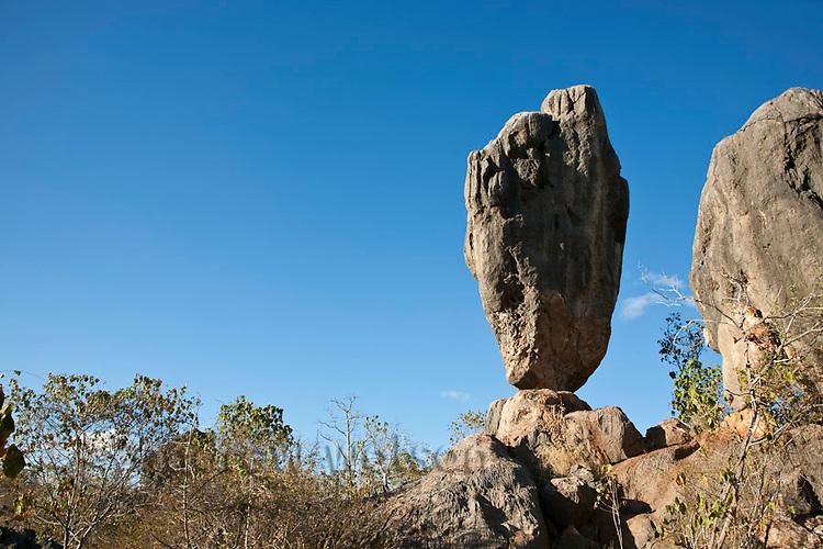 Balancing Rock at Chillagoe-Mungana Caves National Park.  Chillago, Queensland, Australia