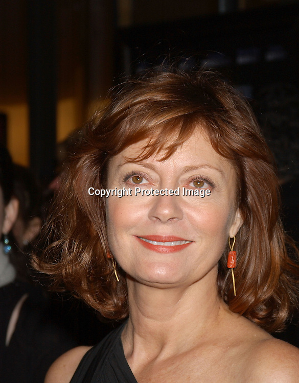 "..Susan Sarandon in Donna Karan dress..arriving at the opening of the 41st New York Film Festival ..screening of "" Mystic River"" on October 3, 2003 in New York City. Photo By Robin Platzer, Twin Images"