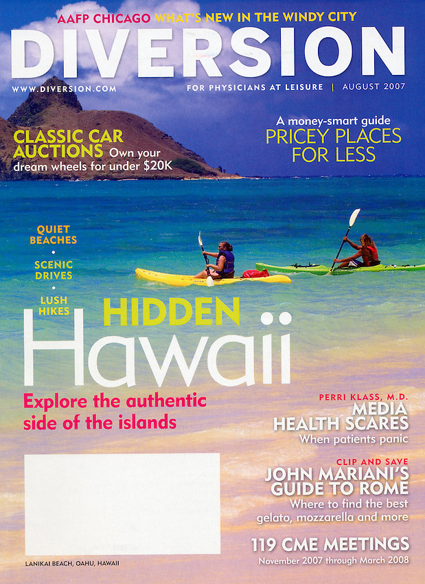 Diversion Magazine cover-Oahu, Hawaii USA