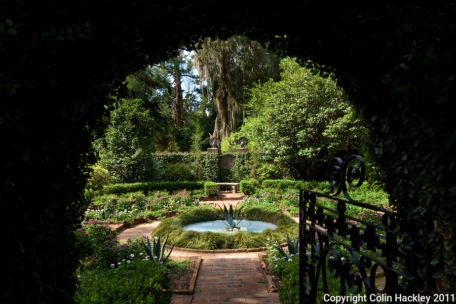 ALFRED B. MACLAY GARDENS STATE PARK: Arched gateways frame the walled garden..COLIN HACKLEY PHOTO