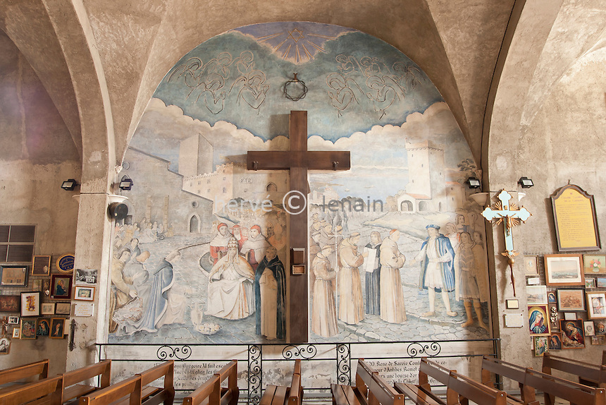 France, Alpes-Maritimes (06), Antibes, la Garoupe, la chapelle de la Garoupe // France, Alpes Maritimes, Antibes, la Garoupe,  chapel of Garoupe