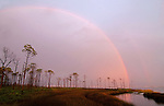 Sunset rainbow at Grand Lagoon