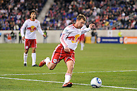 Teemu Tainio (2) of the New York Red Bulls. The New York Red Bulls defeated the Seattle Sounders 1-0 during a Major League Soccer (MLS) match at Red Bull Arena in Harrison, NJ, on March 19, 2011.