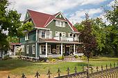 Victorian house in Kaslo, Village on Kootenay Lake, West Kootenay, British Colmubia, Canada