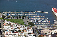 aerial photograph Gas House Cove Marina district San Francisco California