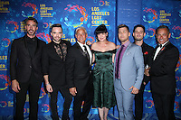 WEST HOLLYWOOD, CA - SEPTEMBER 24: Greg Louganis, Johnny Chaillot, Lance Bass, Michael Turchin, Robert Sepulveda Jr., Brian Justin Crum, Pauley Perrette  attends the Los Angeles LGBT Center's 47th Anniversary Gala Vanguard Awards at Pacific Design Center on September 24, 2016 in West Hollywood, California. (Credit: Parisa Afsahi/MediaPunch).