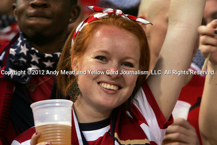 11 September 2012: U.S. fan. The United States Men's National Team defeated the Jamaica Men's National Team 1-0 at Columbus Crew Stadium in Columbus, Ohio in a CONCACAF Third Round World Cup Qualifying match for the FIFA 2014 Brazil World Cup.