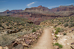 South Kaibab Trail descending Tonto Plateau in Grand Canyon National Park, northern Arizona. .  John leads hiking and photo tours throughout Colorado. . John offers private photo tours in Grand Canyon National Park and throughout Arizona, Utah and Colorado. Year-round.