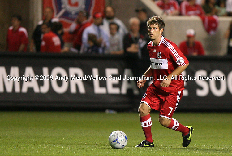 05 June 2009: Chicago's Logan Pause. The Houston Dynamo defeated the Chicago Fire 1-0 at Toyota Park in Bridgeview, Illinois in a regular season Major League Soccer game.