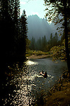 CA: Yosemite National Park, Rafting on Merced River   .Photo Copyright: Lee Foster, lee@fostertravel.com, www.fostertravel.com, (510) 549-2202.cayose205
