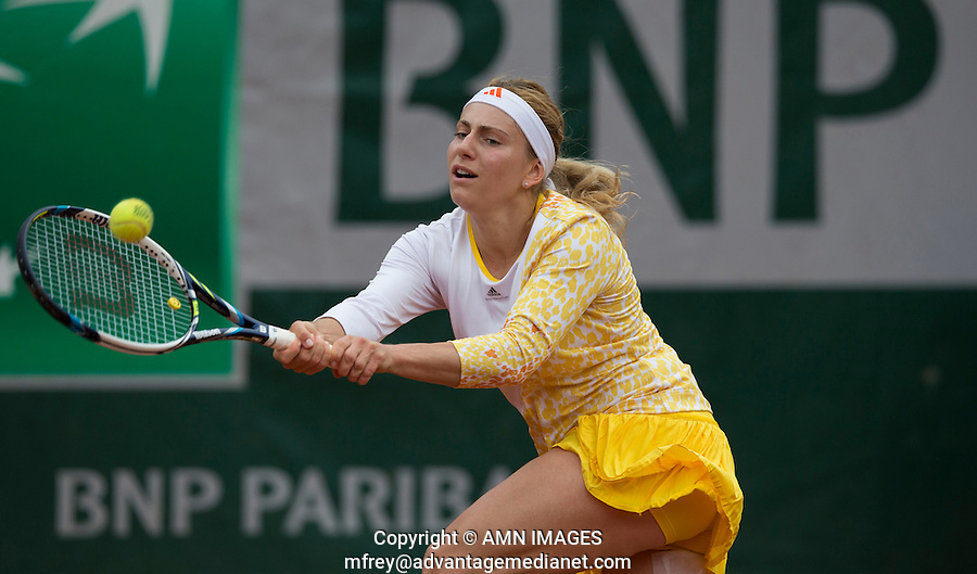 KSENIA PERVAK (RUS)<br /> <br /> Tennis - French Open 2014 -  Toland Garros - Paris -  ATP-WTA - ITF - 2014  - France -  26 May 2014. <br /> <br /> &copy; AMN IMAGES