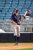 Tanner Morris (4) of Miller School in Crozet, Virginia playing for the Cleveland Indians scout team during the East Coast Pro Showcase on August 3, 2016 at George M. Steinbrenner Field in Tampa, Florida.  (Mike Janes/Four Seam Images)