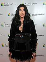 Cher arrives for the formal Artist's Dinner honoring the recipients of the 41st Annual Kennedy Center Honors hosted by United States Deputy Secretary of State John J. Sullivan at the US Department of State in Washington, D.C. on Saturday, December 1, 2018.   <br /> CAP/MPI/RS<br /> &copy;RS/MPI/Capital Pictures
