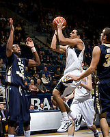 Jorge Gutierrez of California shoots the ball during the game against George Washington at Haas Pavilion in Berkeley, California on November 13th, 2011.  California defeated George Washington, 81-54.
