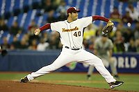 March 8, 2009:  Pitcher Armando Galarraga (40) of Venezuela during the first round of the World Baseball Classic at the Rogers Centre in Toronto, Ontario, Canada.  Venezuela lost to Team USA 15-6 in both teams second game of the tournament.  Photo by:  Mike Janes/Four Seam Images