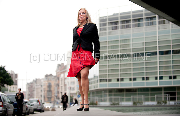 Sarah Scaillet, general manager of the National Pensions Office (Belgium, 10/07/2014)