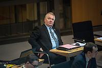 """4. Plenarsitzung der 18. Wahlperiode des Berliner Abgeordnetenhaus am Donnerstag den 12. Januar 2017.<br /> Im Bild: Kay Nerstheimer, fraktionslos. Nach der Abgeordnetenhauswalh 2016 verzichtete er auf seinen Platz in der Berliner AfD-Fraktion. Nerstheimer war mindetsens 2012 Mitglied in der rechtsextremen """"German Defence League"""" (GDL), die vom Verfassungsschutz ueberwacht wird. Nerstheimer kuendigte als Berliner Chef der GDL an, die Organisation zu einer """"Miliz"""" auszubauen zu wollen.<br /> 12.1.2017, Berlin<br /> Copyright: Christian-Ditsch.de<br /> [Inhaltsveraendernde Manipulation des Fotos nur nach ausdruecklicher Genehmigung des Fotografen. Vereinbarungen ueber Abtretung von Persoenlichkeitsrechten/Model Release der abgebildeten Person/Personen liegen nicht vor. NO MODEL RELEASE! Nur fuer Redaktionelle Zwecke. Don't publish without copyright Christian-Ditsch.de, Veroeffentlichung nur mit Fotografennennung, sowie gegen Honorar, MwSt. und Beleg. Konto: I N G - D i B a, IBAN DE58500105175400192269, BIC INGDDEFFXXX, Kontakt: post@christian-ditsch.de<br /> Bei der Bearbeitung der Dateiinformationen darf die Urheberkennzeichnung in den EXIF- und  IPTC-Daten nicht entfernt werden, diese sind in digitalen Medien nach §95c UrhG rechtlich geschuetzt. Der Urhebervermerk wird gemaess §13 UrhG verlangt.]"""