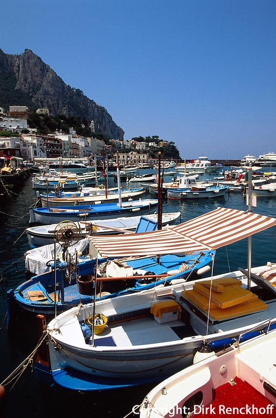 Hafen von Marina Grande, Capri, Italien