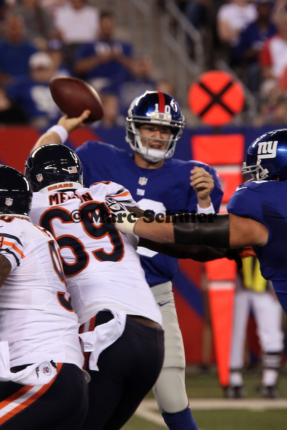 QB Eli Manning (Giants) unter Druck