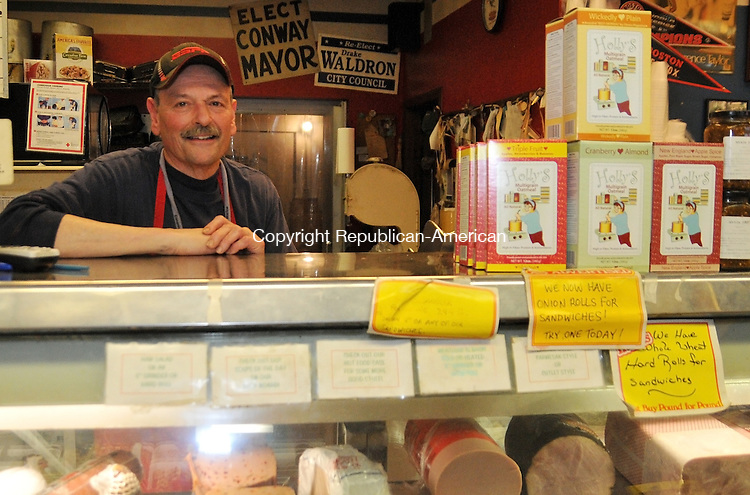 TORRINGTON, CT,  27 JAN 13- 012715AJ01-  Tony Renzullo, who has owned Carbone's Market on Oak Avenue in Torrington for three decades has listed the market for sale. Alec Johnson/ Republican-American