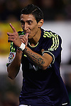 VALENCIA, SPAIN - JANUARY 20: Angel di Maria of Real Madrid CF celebrates fifth goal during the Liga BBVA between Valencia CF and  Real Madrid CF at the Mestalla Stadium on January 20, 2013 in Valencia, Spain. Photo by Aitor Alcalde / Power Sport Images.