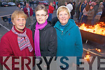 Parishioners Eileen Broderick, Ann Doran and Catherine Horgan attend a special Dawn mass held in Duagh on Easter Sunday.