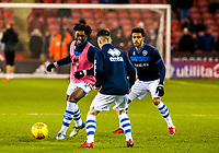 Queens Park Rangers midfielder Ebere Eze (30) warming up during the Sky Bet Championship match between Sheff United and Queens Park Rangers at Bramall Lane, Sheffield, England on 20 February 2018. Photo by Stephen Buckley / PRiME Media Images.