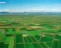 Þykkvibær séð til norðvesturs, Djúpárhreppur /.Thykkvibaer viewing northwest, Djuparhreppur.