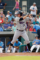 Winston-Salem Dash first baseman Gavin Sheets (24) at bat during a game against the Myrtle Beach Pelicans at Ticketreturn.com Field at Pelicans Ballpark on July 22, 2018 in Myrtle Beach, South Carolina. Winston-Salem defeated Myrtle Beach 7-2. (Robert Gurganus/Four Seam Images)