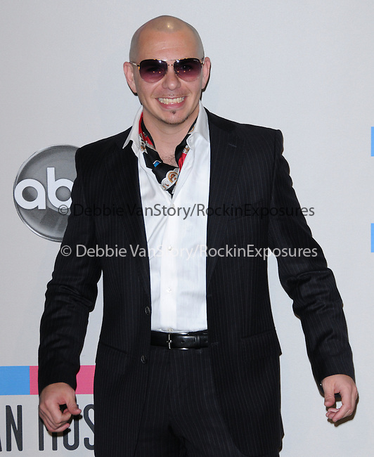 Pitbull at The 2010 American Music  Awards held at Nokia Theatre L.A. Live in Los Angeles, California on November 21,2010                                                                   Copyright 2010  DVS / Hollywood Press Agency