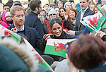 18.01.2018; London, England: A SEA OF WELSH FLAGS GREET MEGHAN MARKLE AND PRINCE HARRY ON THEIR VISIT TO CARDIFF<br /> The couple observed the rich culture and heritage of Wales and learnt more about some of the organisations working in communities across the country. <br /> This is Meghan and Harry&rsquo;s first official visit to Wales<br /> They are to be married on 19th May 2018 at Windsor Castle.<br /> Mandatory Photo Credit: &copy;Francis Dias/NEWSPIX INTERNATIONAL<br /> <br /> IMMEDIATE CONFIRMATION OF USAGE REQUIRED:<br /> Newspix International, 31 Chinnery Hill, Bishop's Stortford, ENGLAND CM23 3PS<br /> Tel:+441279 324672  ; Fax: +441279656877<br /> Mobile:  07775681153<br /> e-mail: info@newspixinternational.co.uk<br /> Usage Implies Acceptance of Our Terms &amp; Conditions<br /> Please refer to usage terms. All Fees Payable To Newspix International