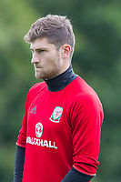 Ben Davies during Wales national team training at Vale Resort, Hensol, Wales on 4 September 2017, ahead of the side's World Cup Qualification match against Moldova. Photo by Mark  Hawkins.