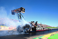 Sept. 21, 2013; Ennis, TX, USA: NHRA top fuel dragster driver Billy Torrence during the Fall Nationals at the Texas Motorplex. Mandatory Credit: Mark J. Rebilas-