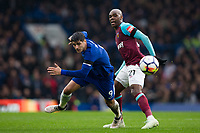 Chelsea's Alvaro Morata vies for possession with West Ham United's Angelo Ogbonna <br /> <br /> Photographer Craig Mercer/CameraSport<br /> <br /> The Premier League - Chelsea v West Ham United - Sunday 8th April 2018 - Stamford Bridge - London<br /> <br /> World Copyright &copy; 2018 CameraSport. All rights reserved. 43 Linden Ave. Countesthorpe. Leicester. England. LE8 5PG - Tel: +44 (0) 116 277 4147 - admin@camerasport.com - www.camerasport.com