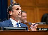 United States Representative John Ratcliffe (Republican of Texas) questions Vice Admiral Joseph Maguire (US Navy retired), acting Director of National Intelligence, as he testifies before the US House Permanent Select Committee on Intelligence on the  Whistleblower Complaint on Capitol Hill in Washington, DC on Thursday, September 26, 2019.<br /> Credit: Ron Sachs / CNP<br /> (RESTRICTION: NO New York or New Jersey Newspapers or newspapers within a 75 mile radius of New York City)