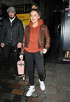 Amber Davies at the &quot;9 To 5 The Musical&quot; theatre cast stage door departures after the evening performance, Savoy Theatre, The Strand, London, England, UK, on Tuesday 05th February 2019.<br /> CAP/CAN<br /> &copy;CAN/Capital Pictures