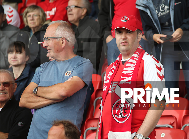 Fleetwood Town fan  ahead of the Sky Bet League 1 match between Fleetwood Town and Rochdale at Highbury Stadium, Fleetwood, England on 18 August 2018. Photo by Stephen Gaunt / PRiME Media Images.