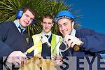 SAFETY FIRST: Students from Tralee Community Colllege, Clash discovered what safety procedures are vital for working on building sites during a Safe Pass Course recently. From l-r were: Aidan Crean, Shane Finn and Jeffery Roche.