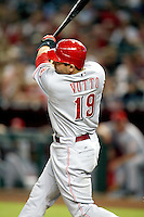 Joey Votto / Cincinnati Reds playing against the Arizona Diamondbacks at Chase Field, Phoenix, AZ - 09/12/2008..Photo by:  Bill Mitchell/Four Seam Images