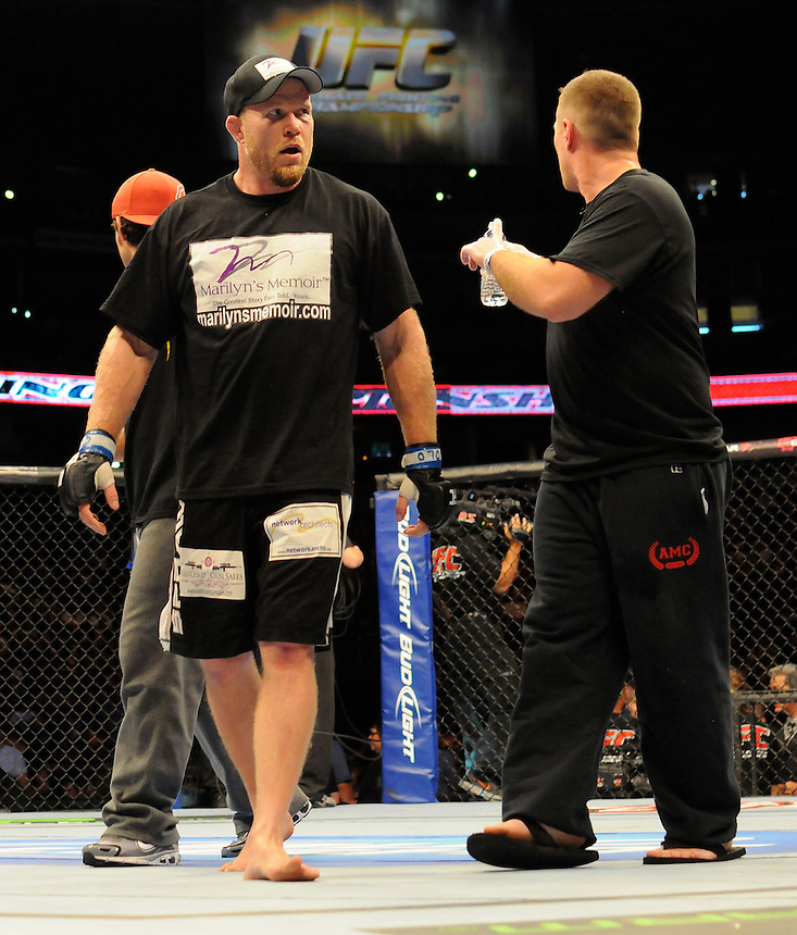 24 SEPTEMBER 2011:   Nick Ring celebrates the bout win over Tim Boetsch  during UFC 135 at the Pepsi Center in Denver, Colorado. *****For Editorial Use Only*****