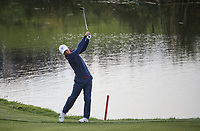 Thorbjorn Olesen (Team Europe) plays to the 9th during Friday's Fourballs, at the Ryder Cup, Le Golf National, Îls-de-France, France. 28/09/2018.<br /> Picture David Lloyd / Golffile.ie<br /> <br /> All photo usage must carry mandatory copyright credit (© Golffile | David Lloyd)