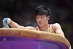 Kenta Chiba (JPN), <br /> AUGUST 20, 2018 - Artistic Gymnastics : Men's Individual All-Around Vault at JIEX Kemayoran Hall D during the 2018 Jakarta Palembang Asian Games in Jakarta, Indonesia. <br /> (Photo by MATSUO.K/AFLO SPORT)
