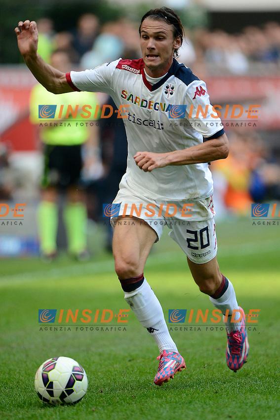 Albin Ekdal Cagliari<br /> Milano 28-09-2014 Stadio Giuseppe Meazza - Football Calcio Serie A Inter - Cagliari. Foto Giuseppe Celeste / Insidefoto