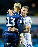 Leeds United's Kalvin Phillips congratulates Will Huffer after the final whistle<br /> <br /> Photographer Alex Dodd/CameraSport<br /> <br /> The EFL Sky Bet Championship - Leeds United v Bristol City - Saturday 24th November 2018 - Elland Road - Leeds<br /> <br /> World Copyright &copy; 2018 CameraSport. All rights reserved. 43 Linden Ave. Countesthorpe. Leicester. England. LE8 5PG - Tel: +44 (0) 116 277 4147 - admin@camerasport.com - www.camerasport.com