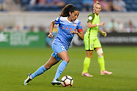 Bridgeview, IL - Wednesday August 16, 2017: Christen Press during a regular season National Women's Soccer League (NWSL) match between the Chicago Red Stars and the Seattle Reign FC at Toyota Park.