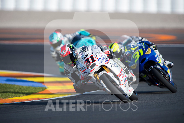 VALENCIA, SPAIN - NOVEMBER 11: Francesco Bagnaia during Valencia MotoGP 2016 at Ricardo Tormo Circuit on November 11, 2016 in Valencia, Spain