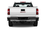 Straight rear view of 2016 GMC Sierra-2500HD 2WD-Double-Cab-Long-Box 4 Door Pick-up Rear View  stock images