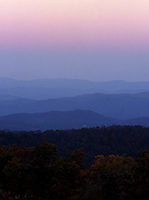 Blue Ridge mountain scene.
