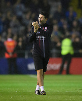 Lincoln City manager Danny Cowley applauds the fans at the final whistle<br /> <br /> Photographer Chris Vaughan/CameraSport<br /> <br /> The Carabao Cup Second Round - Lincoln City v Everton - Wednesday 28th August 2019 - Sincil Bank - Lincoln<br />  <br /> World Copyright © 2019 CameraSport. All rights reserved. 43 Linden Ave. Countesthorpe. Leicester. England. LE8 5PG - Tel: +44 (0) 116 277 4147 - admin@camerasport.com - www.camerasport.com
